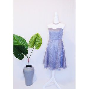 Grey David's Bridal lace Strapless Dress Size 8